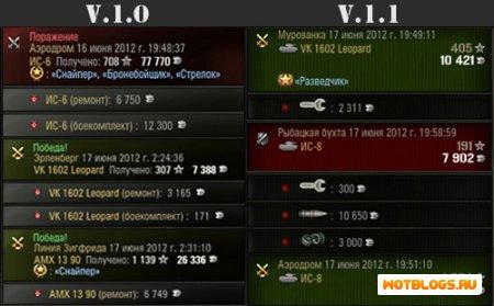 Цветные сообщения после боя 0.7.5