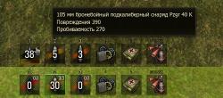 Информативная панель снарядов