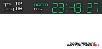 Новая damage panel  с часами для WoT 0.8.2