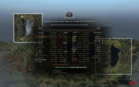 Мини-карта на экране загрузки боя для World of Tanks 0.8.3