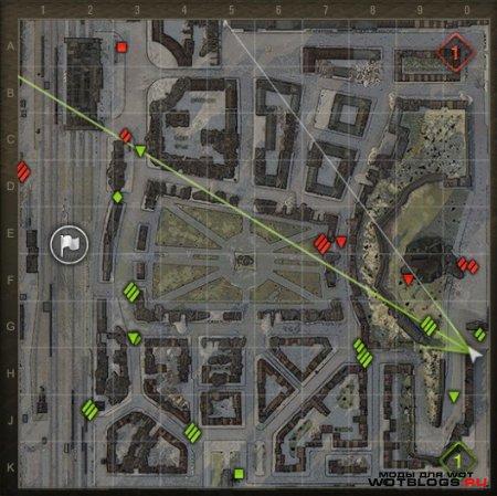 Лазерный прицел на мини-карте №1 для WoT 0.8.3