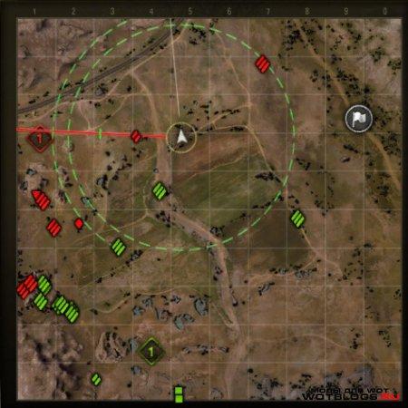 Лазерный прицел на мини-карте №2 для WoT 0.8.3
