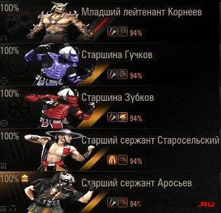 Иконки экипажа Mortal Kombat для World of Tanks 0.8.4