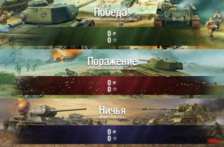 Финальная статистика после боя для World of Tanks 0.8.4