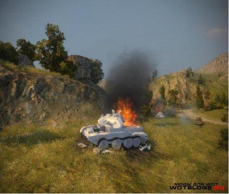 Белые трупы танков для WoT 0.8.6