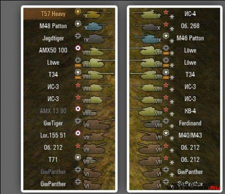 Иконки танков с нациями для WoT 0.8.6