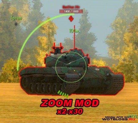 Зум в снайперском режиме(x2-x30) для WoT 0.8.7