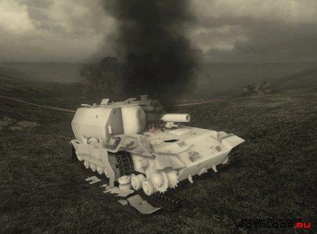 Белые текстуры уничтоженных танков для WoT 0.8.8