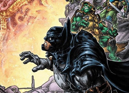 Втретьем кроссовере Черепашек-ниндзя иБэтмена повятся гибриды героев. Например, Найтвинг-Леонардо