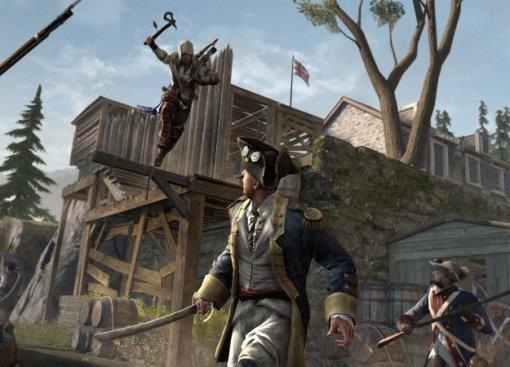 Гифка дня: немного помощи непомешает вAssassin's Creed III