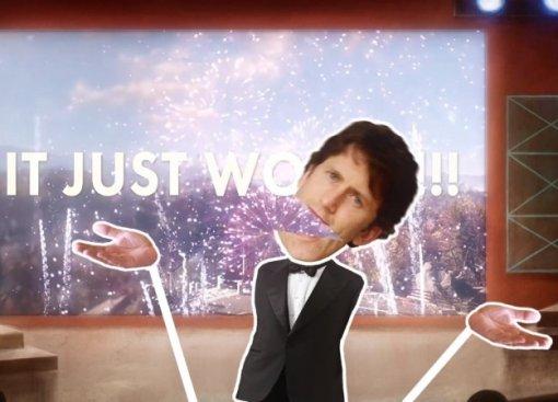 Тодд Говард весело поет освоей «маленькой лжи» впотрясающем фанатском клипе ItJust Works