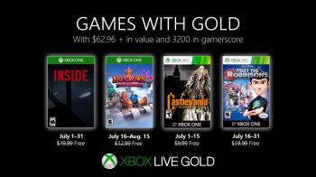 Июльские игры для подписчиков Xbox Live Gold