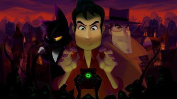 Gibbous - юмористический мультяшный хоррор о культистах, Некрономиконе и черной говорящей кошке