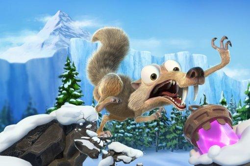 Втрейлере игры Ice Age: Scrat's Nutty Adventure белка вновь гоняется зажелудем. Классика!