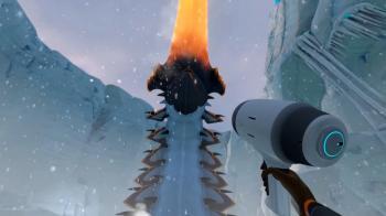 Огромный снежный червь в Subnautica: Below Zero обновление Ice Worm