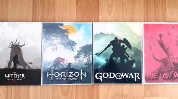 Художник создал шикарные обложки для хитов на PS4 и выложил их в открытый доступ