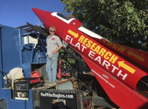 Погиб сторонник теории плоской Земли. Онпытался запустить самодельную ракету