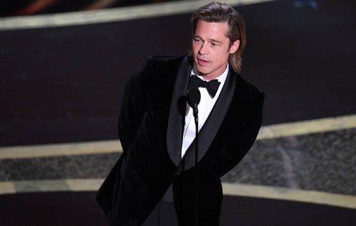 Брэд Питт пошутил про Дональда Трампа во время «Оскара-2020»