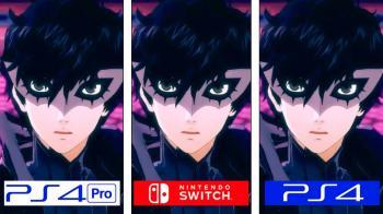 Сравнение графики Persona 5 Scramble на Switch, PS4 и PS4 Pro