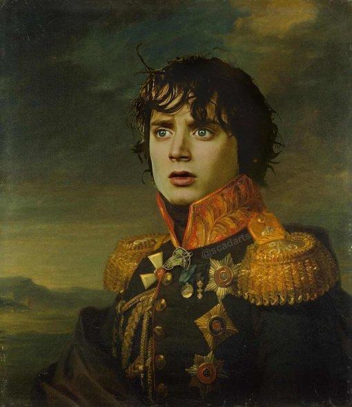 Фродо вмундире: энтузиаст делает парадные портреты героев известных франшиз