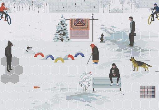 Художница рисует Россию встиле пиксель-арт. Есть даже пародия на«Героев3»