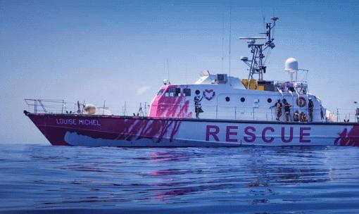 Бэнкси купил яхту, чтобы спасать мигрантов, потерпевших крушение вСредиземном море