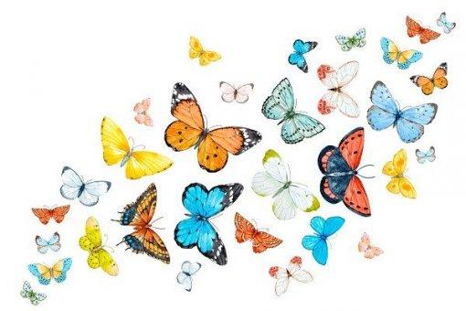 Дизайнер создает залипательные гифки с архитектурой и бабочками при помощи нейросетей