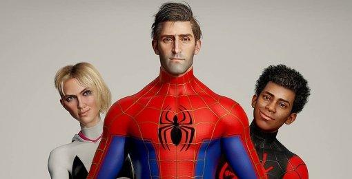 Художник показал реалистичного Питера Паркера измультфильма «Человек-паук: Через вселенные»