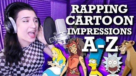 Девушка зачитала рэп голосами мультяшных персонажей накаждую букву алфавита