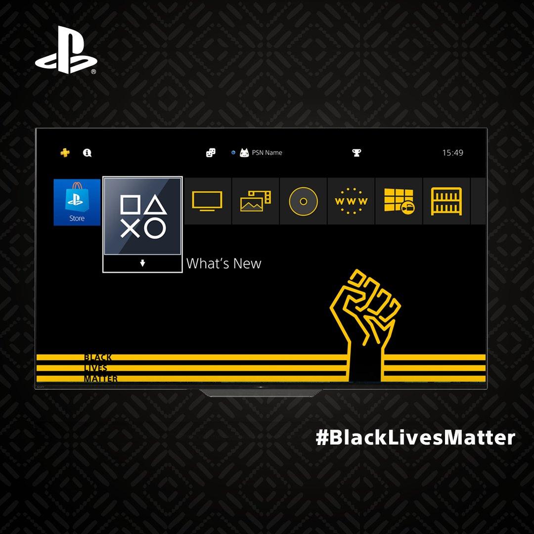 PS4 получила тему в поддержку Black Lives Matter