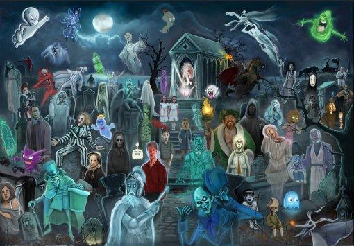 Художник спрятал сотни отсылок напостерах спризраками, ведьмами иперсонажами Стивена Кинга