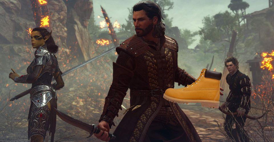 Помните, в Baldur's Gate 3 вы можете победить врагов ботинками