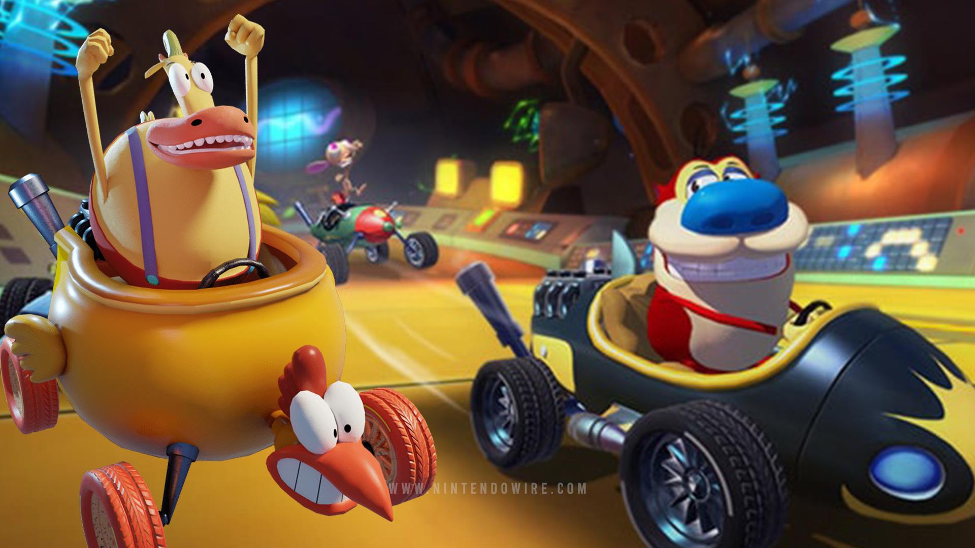 Видео игрового процесса Switch-версии Nickelodeon Kart Racers 2: Grand Prix