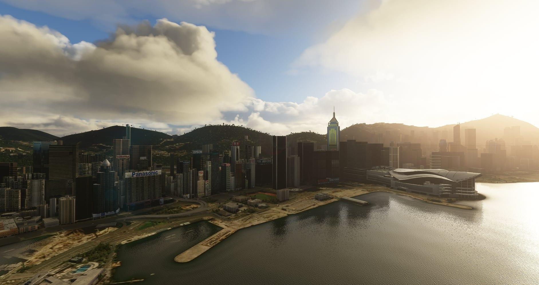Анонс нового платного городского дополнения в виде Гонконга для Microsoft Flight Simulator