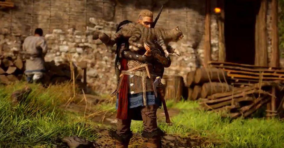 В Assassin's Creed Valhalla можно не только погладить киску, но и потереться лицом