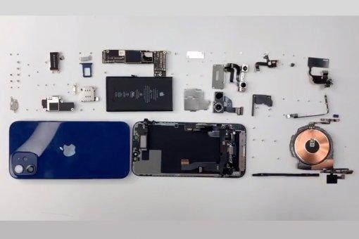 iPhone 12 разобрали довинтика навидео