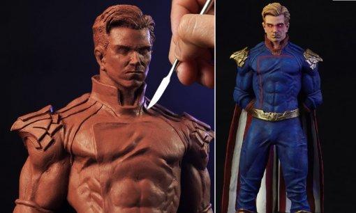 Хоумлендер, Кратос, Ванпанчмен, Дэдпул иБэтмен: художник создает потрясающие скульптуры персонажей