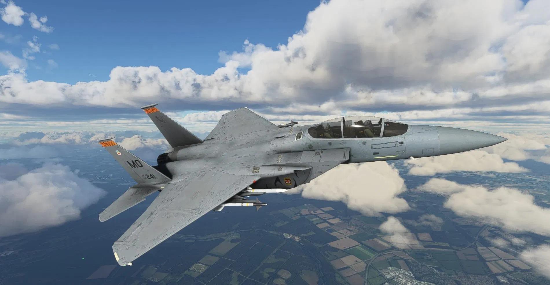 Новые скриншоты F-15 для Microsoft Flight Simulator