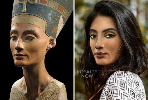 Художница показала, как моглибы выглядеть Нефертити идругие исторические личности в21 веке
