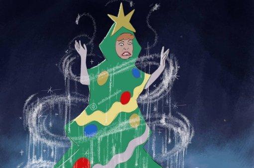 Злые инетрезвые: честные арты отом, как принцессы Disney отмечают Новый год