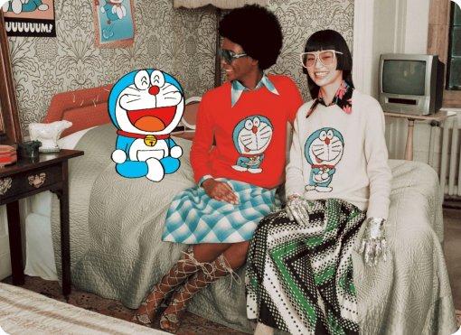 Бренд Gucci представил коллаборацию с Дораэмоном