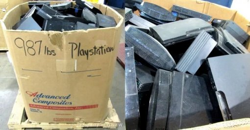 Кладбище консолей: на аукционе продают коробку весом в 400 кг со старыми PlayStation 2, 3 и 4