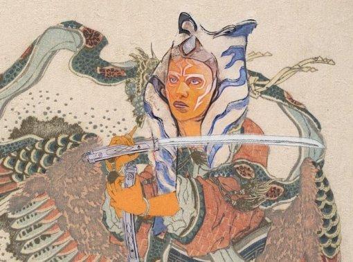 Мандалорец, Асока Тано, Дарт Мол: художник показал персонажей «Звездных войн» встиле древней Японии