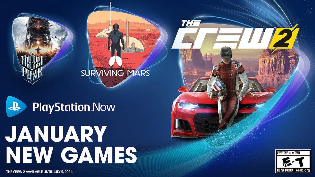 PlayStation Now в января пополнился The Crew 2, Surviving Mars и Frostpunk: Console Edition