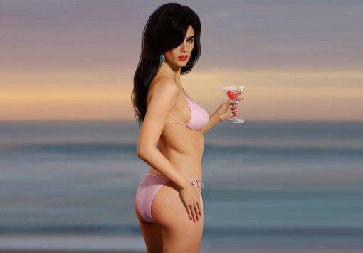 Художник показал реалистичную девушку собложки GTA: Vice City