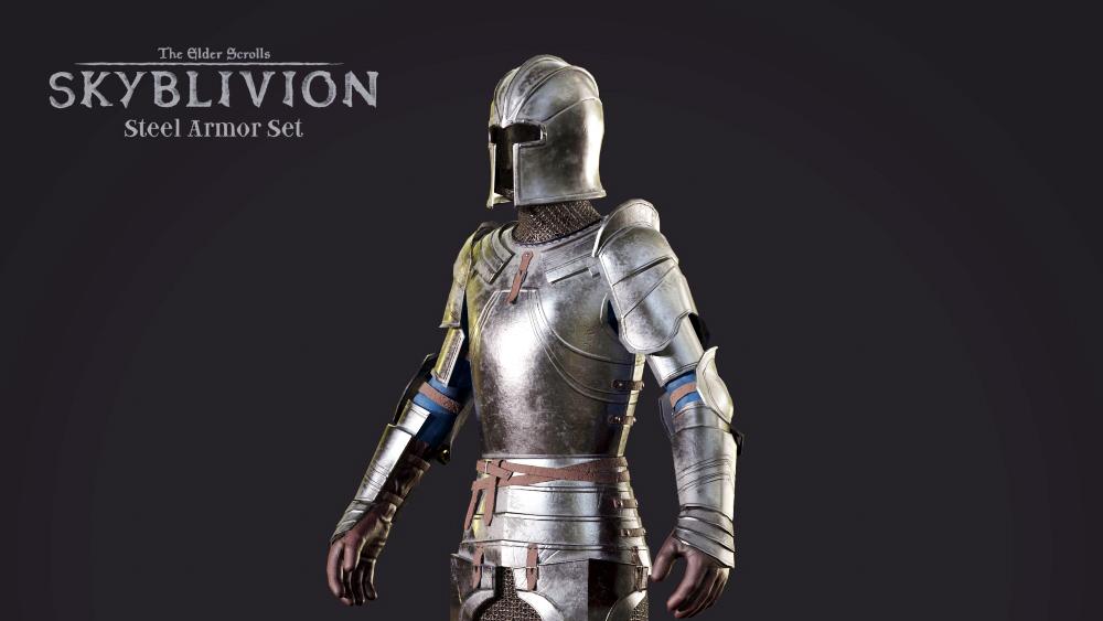 Стальное снаряжение из модификации Skyblivion