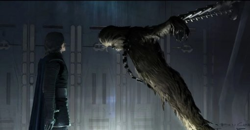 Впоследних «Звездных войнах» Кайло Рен жестоко пытал Чубакку. Появились детали вырезанной сцены