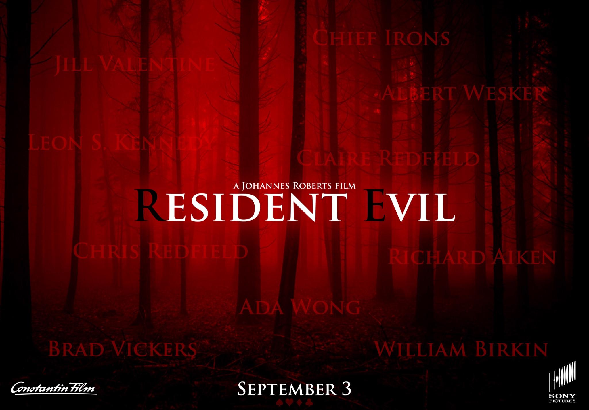 Официальный тизер-постер новой экранизации Resident Evil со списком персонажей
