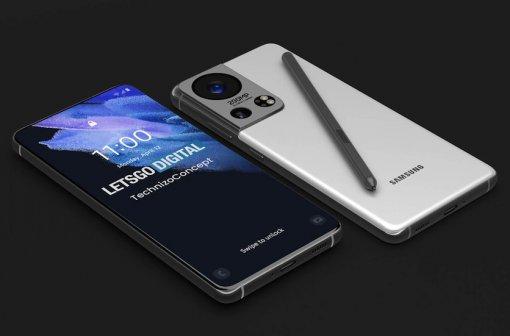 Опубликованы рендеры флагмана Samsung Galaxy S22 Ultra