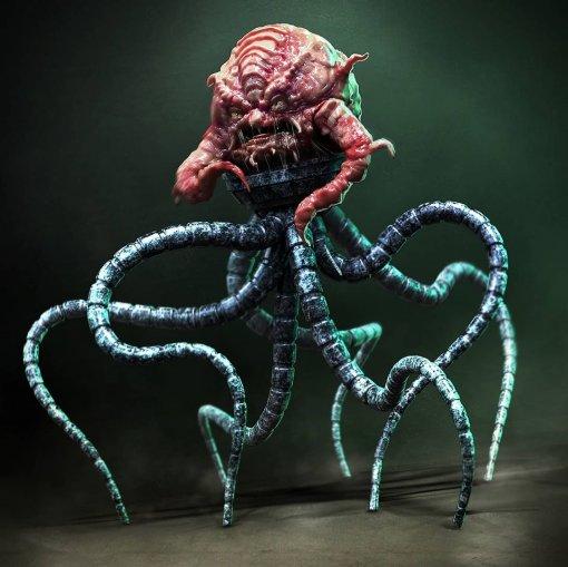 Художник показал мрачный концепт-арт Крэнга из «Черепашек-ниндзя 2»